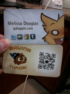 my vague and cute business cards!