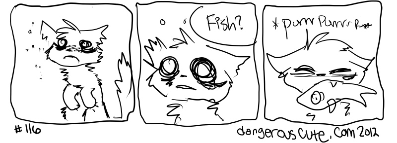 there was a fish thingy involved and it mae e me happy and sleepy